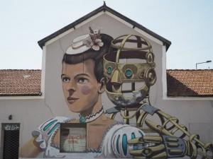 Kadıköy Mural'da da işlerini görebileceğimiz Pixel Pancho Lizbon'da. Fotoğraf: Sinan Hamamsarılar