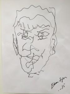 Erkan Oğur'un benim için çizdiği portre...