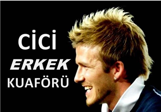 İşte bir berber -erkek kuaförü de diyorlar- klasiği; İngiliz futbolcu Davit Beckham fotoğraflı saç kesim modelleri.