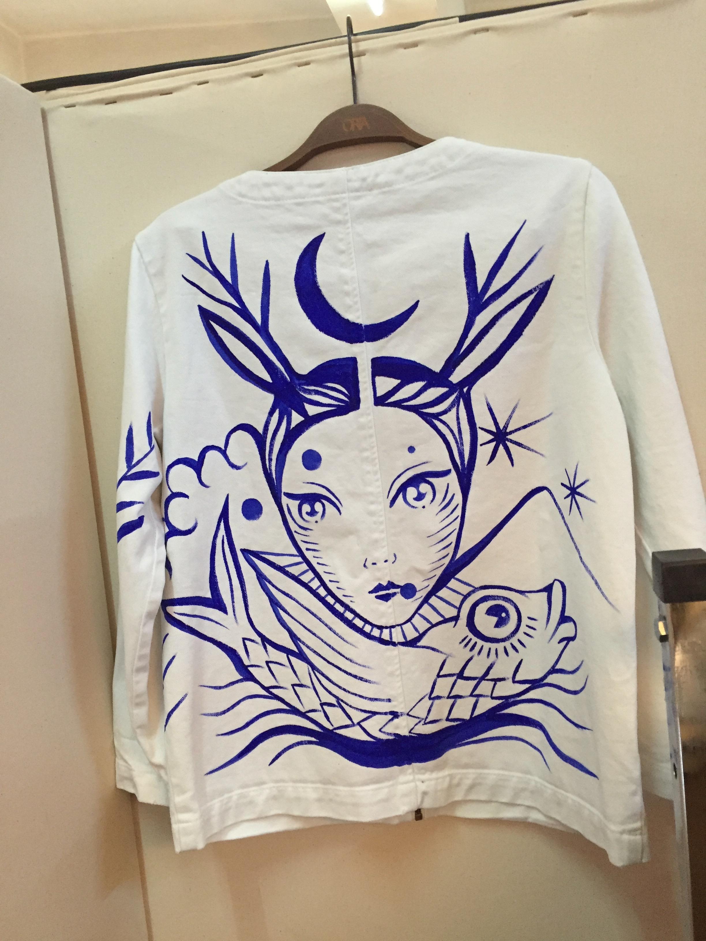 Gamze Yalçın çizimli bir Orta Anadolu ceket tasarımı.